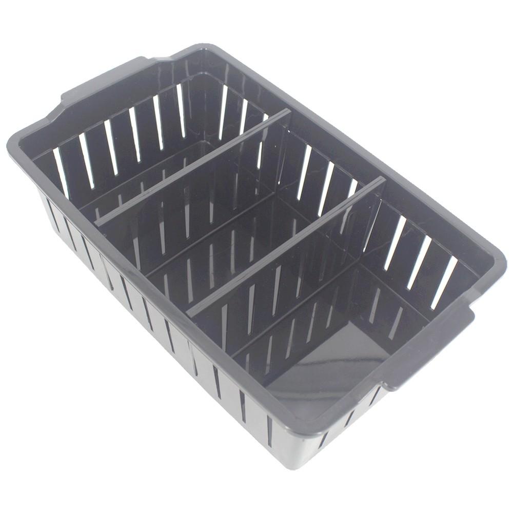 Caixa Plástica Organizadora 02 Divisórias Movel 28,8 x 17cm Preto  - Shop Ud