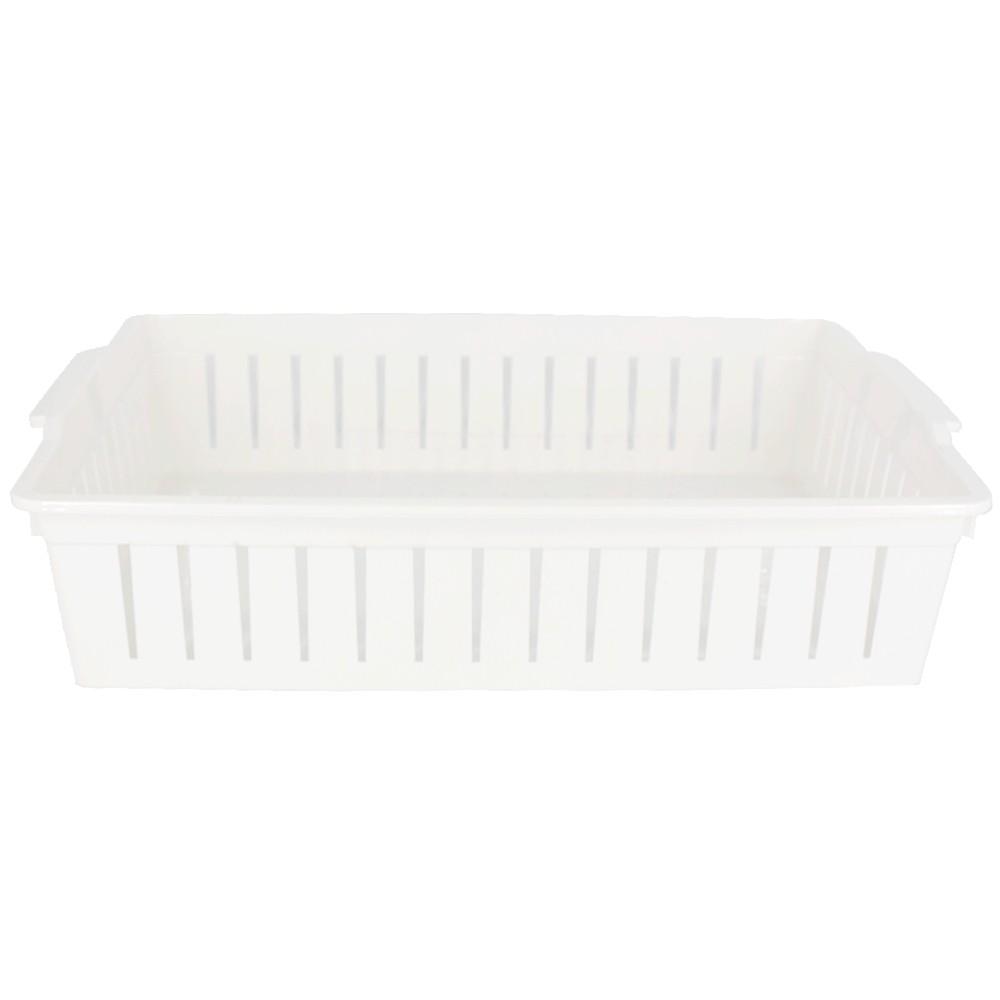 Caixa Plástica Organizadora 02 Divisórias Movel 36,5 x 25 cm Branco  - Shop Ud