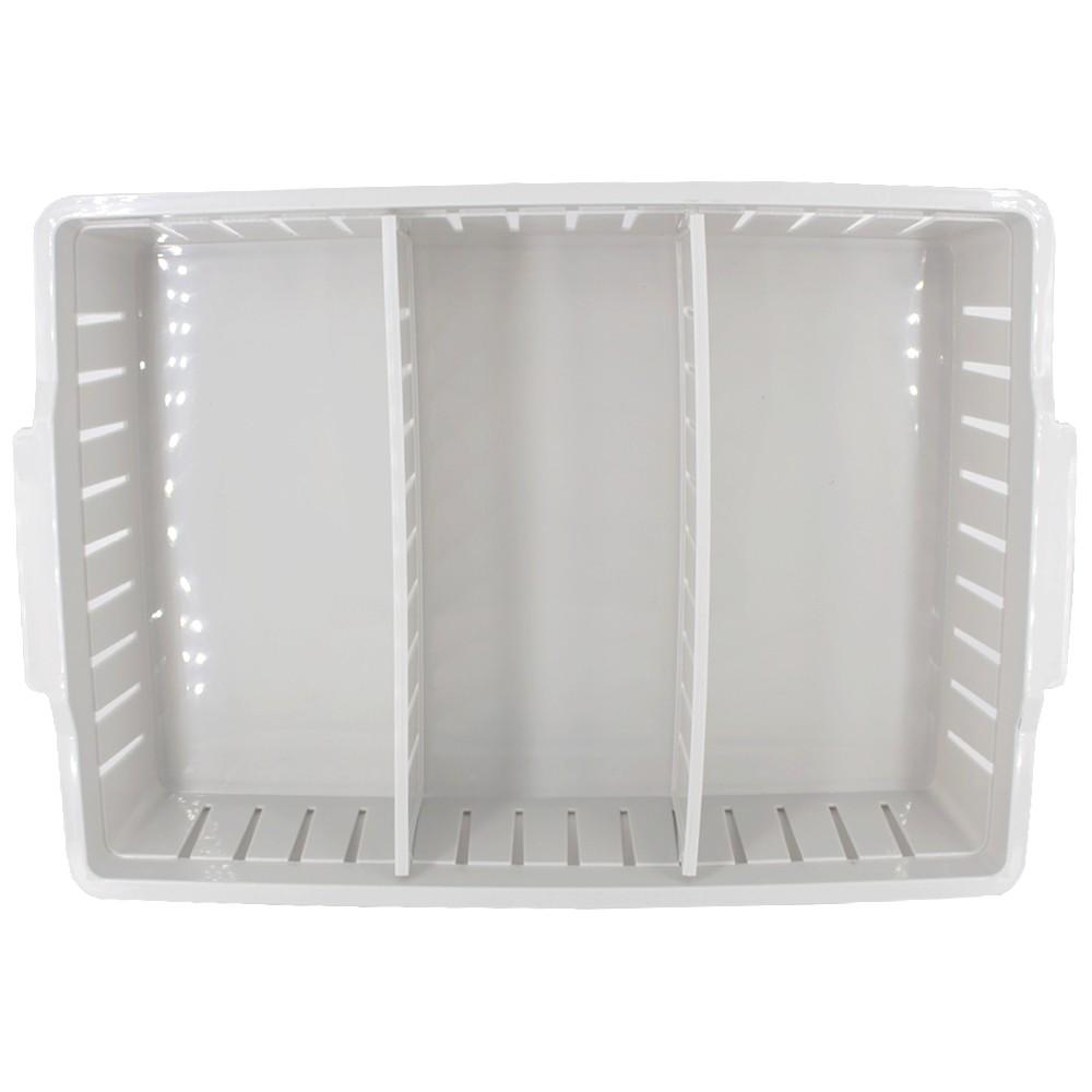 Caixa Plástica Organizadora 02 Divisórias Movel 36,5 x 25 cm - Cinza  - Shop Ud