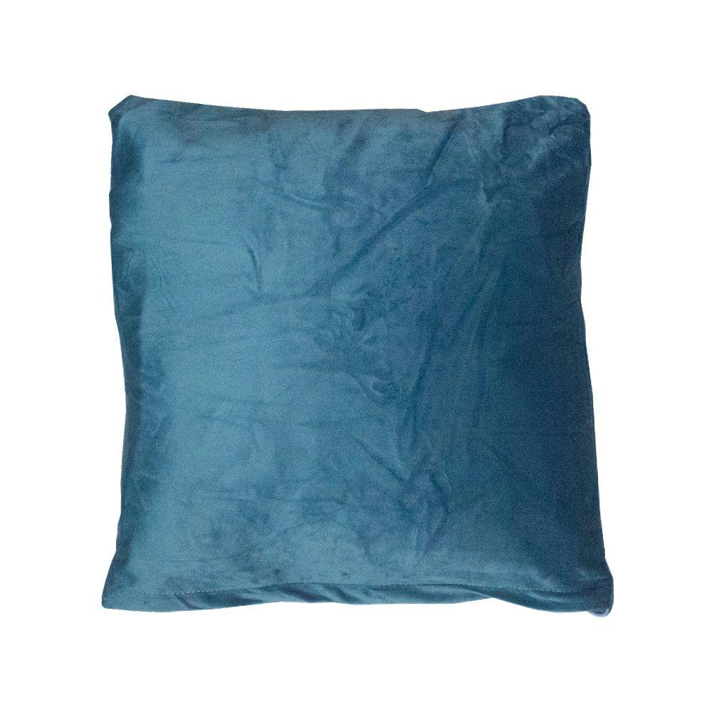 Capa para Almofada em Veludo - 03 Penas - Azul 43x43cm  - Shop Ud