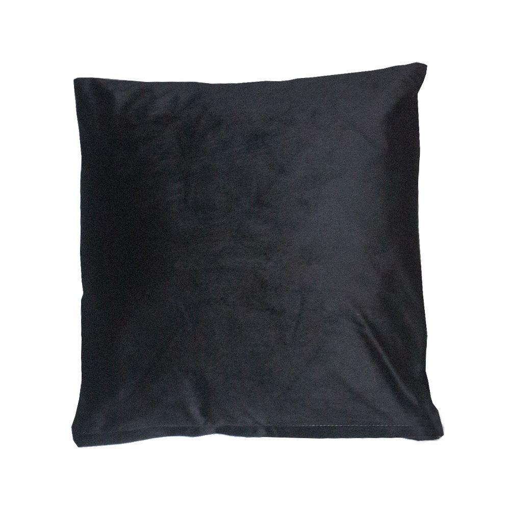 Capa para Almofada em Veludo - 03 Penas - Preto 43x43cm  - Shop Ud