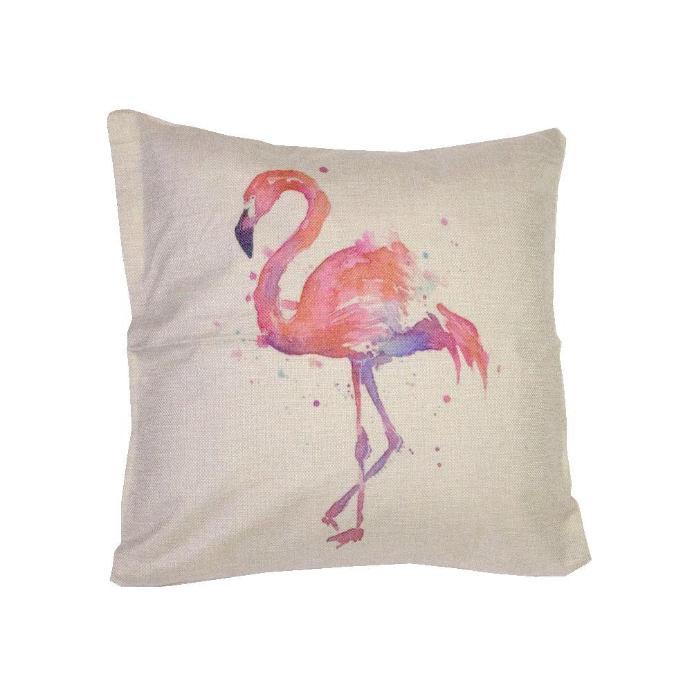 Capa para Almofada Flamingo Degrade Roxo Rosa - 43cm x 43cm  - Shop Ud