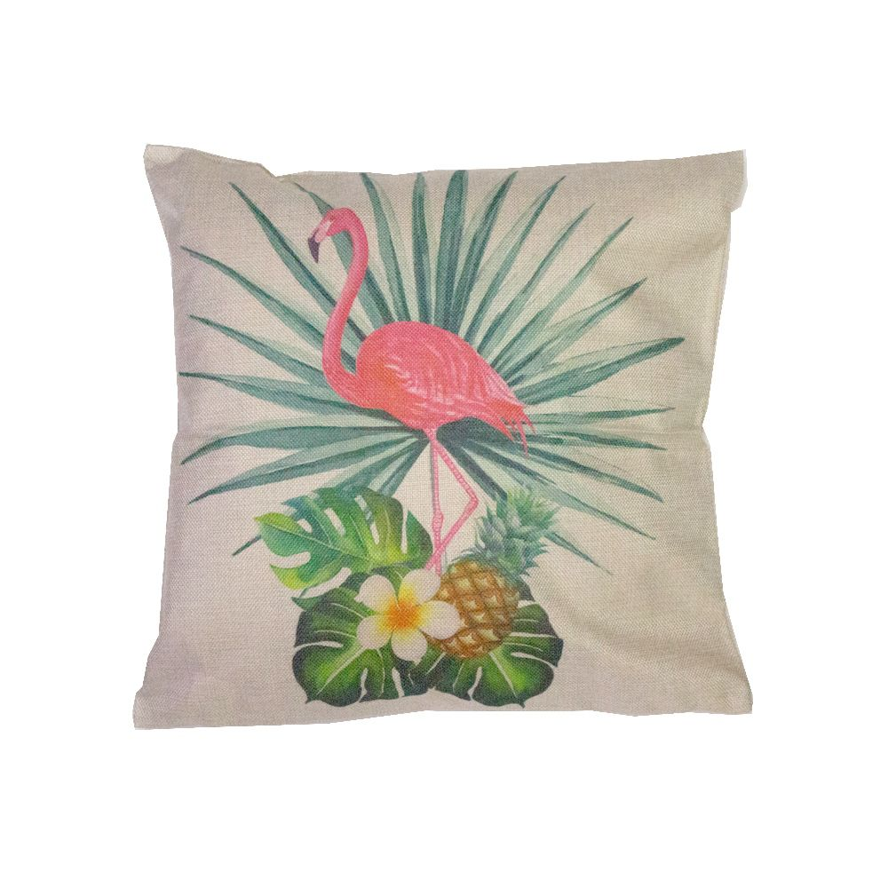 Capa para Almofada Flamingo Tropical Abacaxi Folhas 43x43cm  - Shop Ud