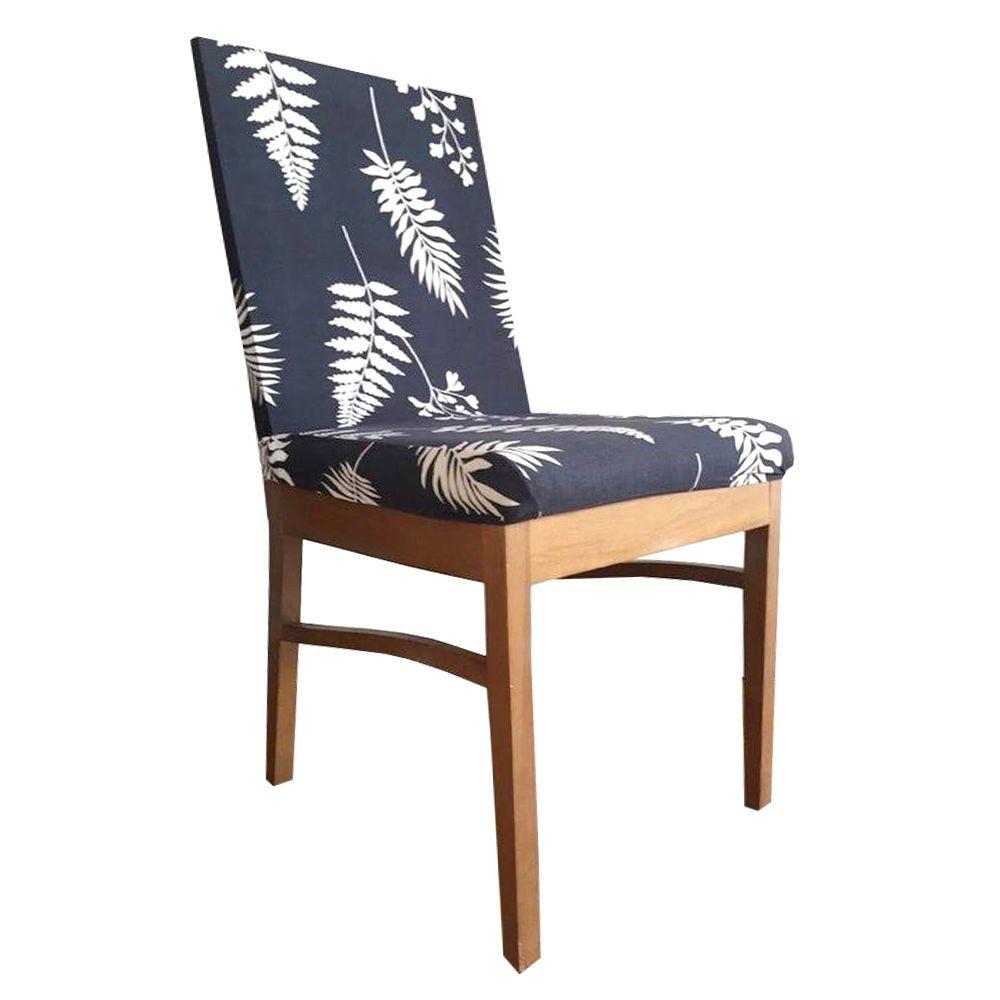 Capa para Cadeira de Jantar Ajustável Azul Escuro Folhagem  - Shop Ud