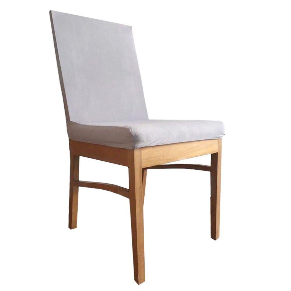 Capa para Cadeira de Jantar Ajustável - Cinza  - Shop Ud