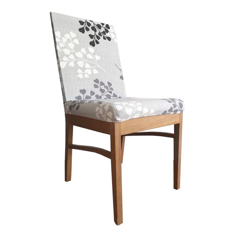 Capa para Cadeira de Jantar Ajustável - Cinza Branco e Preto  - Shop Ud