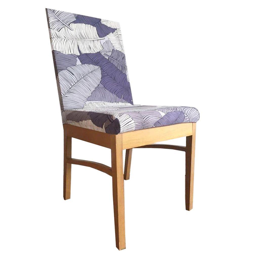 Capa para Cadeira de Jantar Ajustável - Folhagens em tons Azuis  - Shop Ud