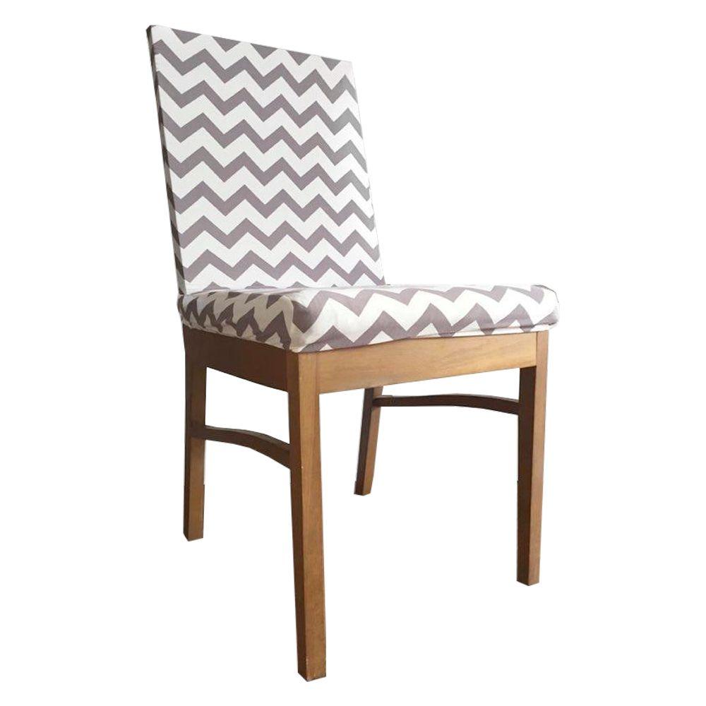 Capa para Cadeira de Jantar Ajustável Roxo Branco Linhas Horiz  - Shop Ud