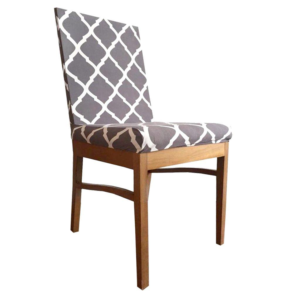 Capa para Cadeira de Jantar Ajustável - Roxo com Arabesco  - Shop Ud