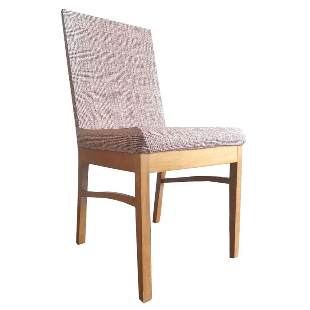 Capa para Cadeira de Jantar Ajustável - Xadrez Vinho