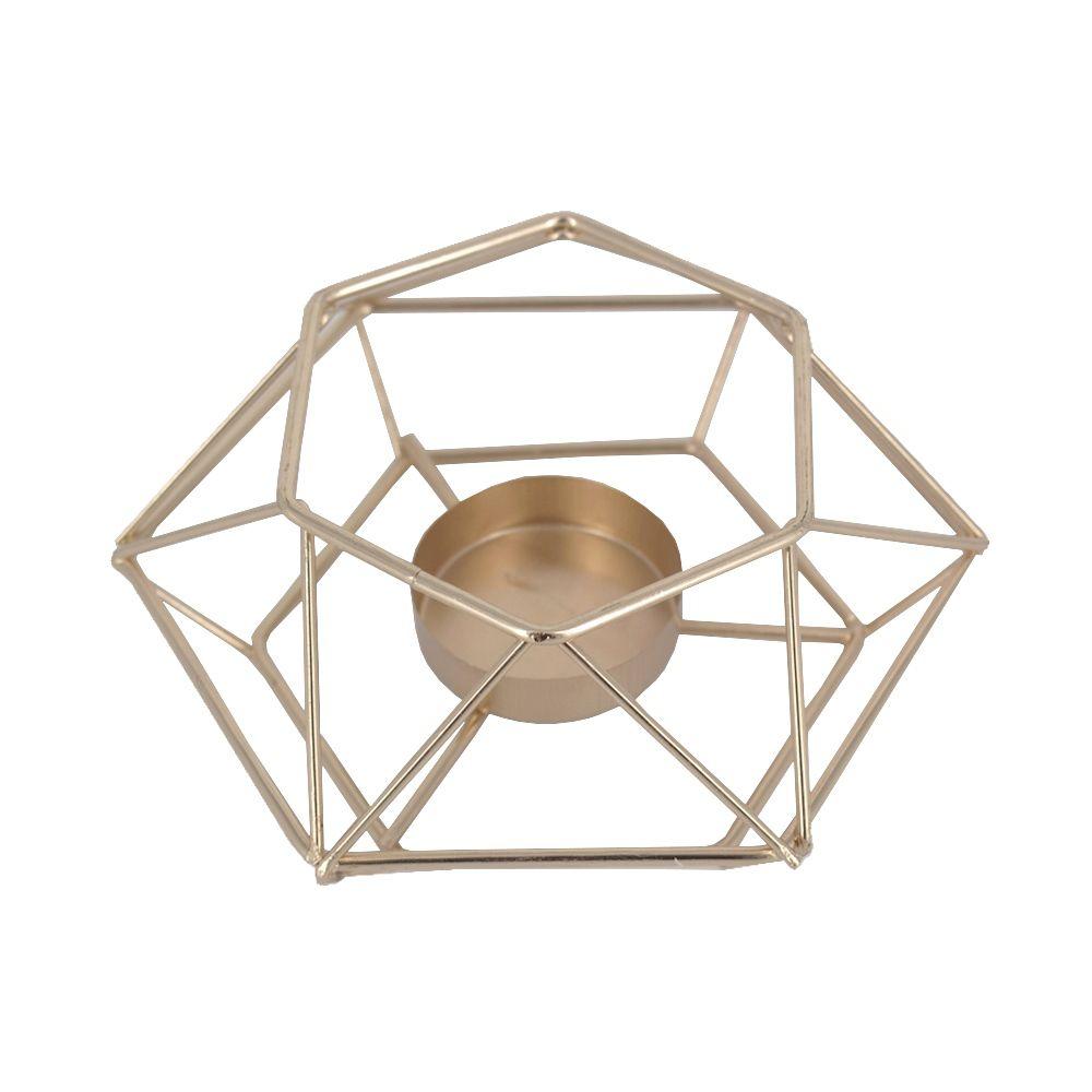 Castiçal para Velas - Geométrica Minimalista - Dourado  - Shop Ud