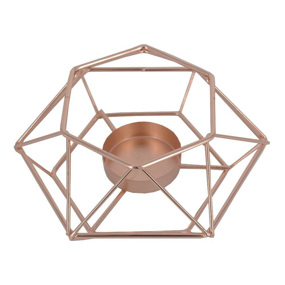 Castiçal para Velas - Geométrica Minimalista - Rose Gold  - Shop Ud