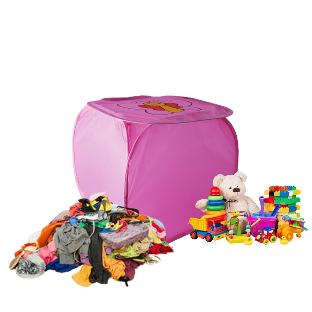 Cesto Organizador De Brinquedo Roupa Suja Dobrável Borboleta  - Shop Ud