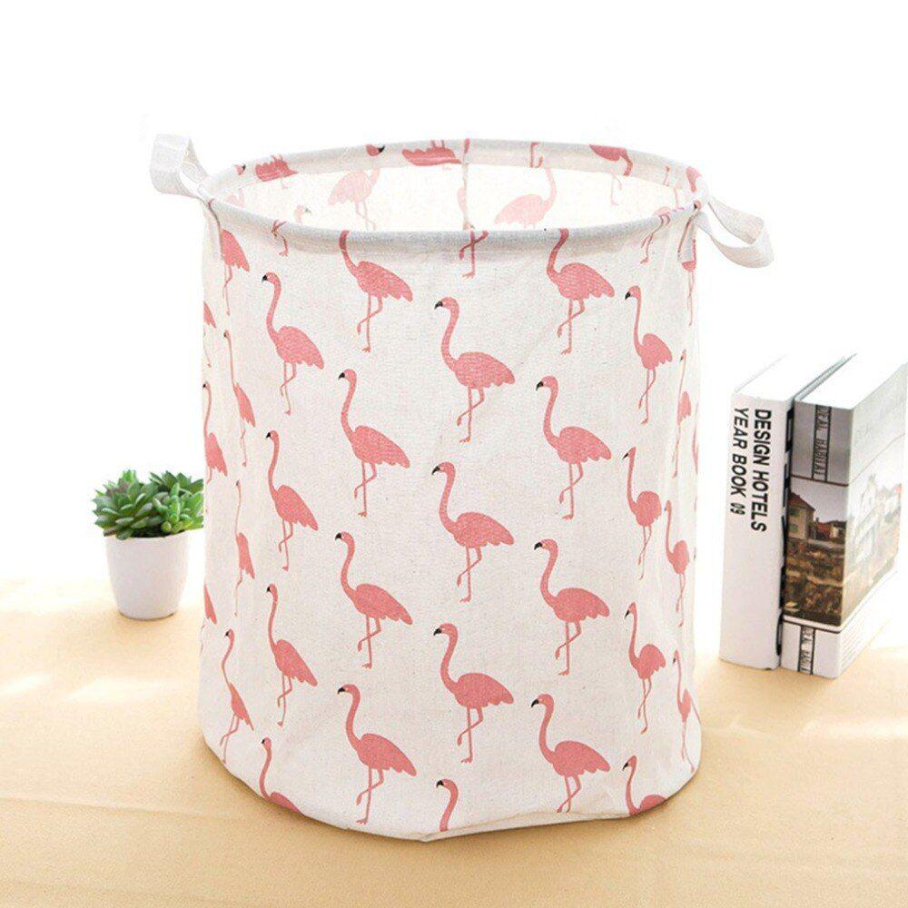 Cesto Organizador Multiuso Grande com Sustentação- Flamingo (Rosa)  - Shop Ud