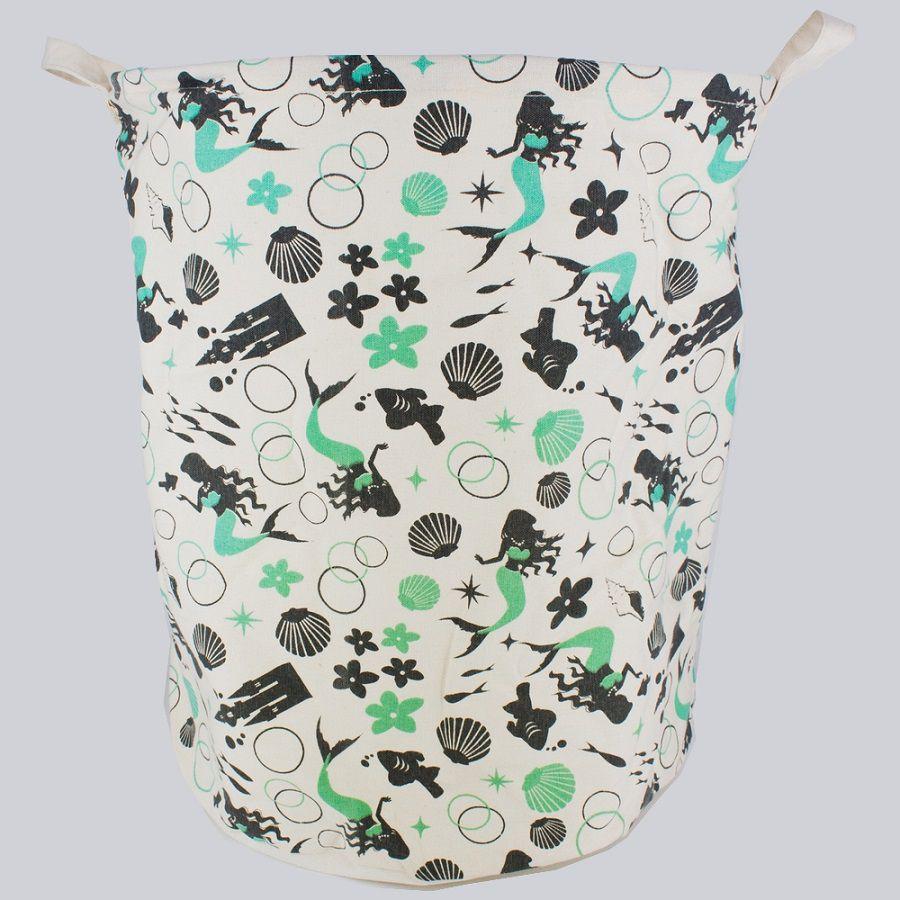 Cesto Organizador Multiuso Grande com Sustentação- Sereia (Verde e Cinza)  - Shop Ud