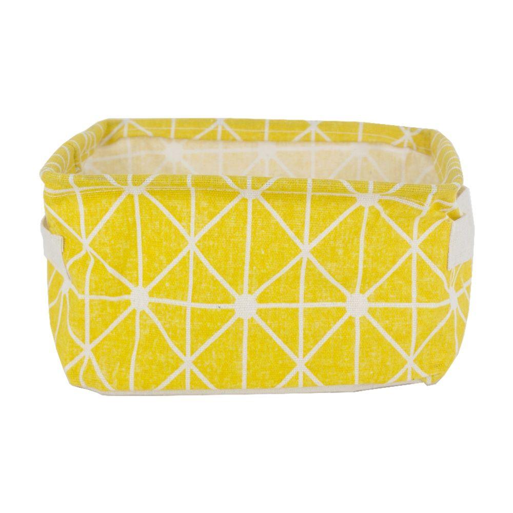 Cesto Pequeno Organizador Multiuso em Tecido - Amarelo  - Shop Ud