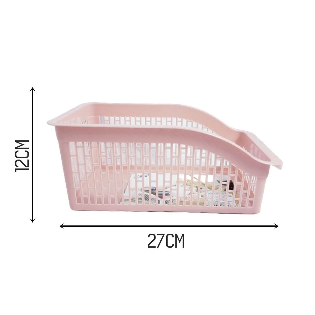 Cestos Organizador Moderno Geladeira Estante Balcão Rosa  - Shop Ud