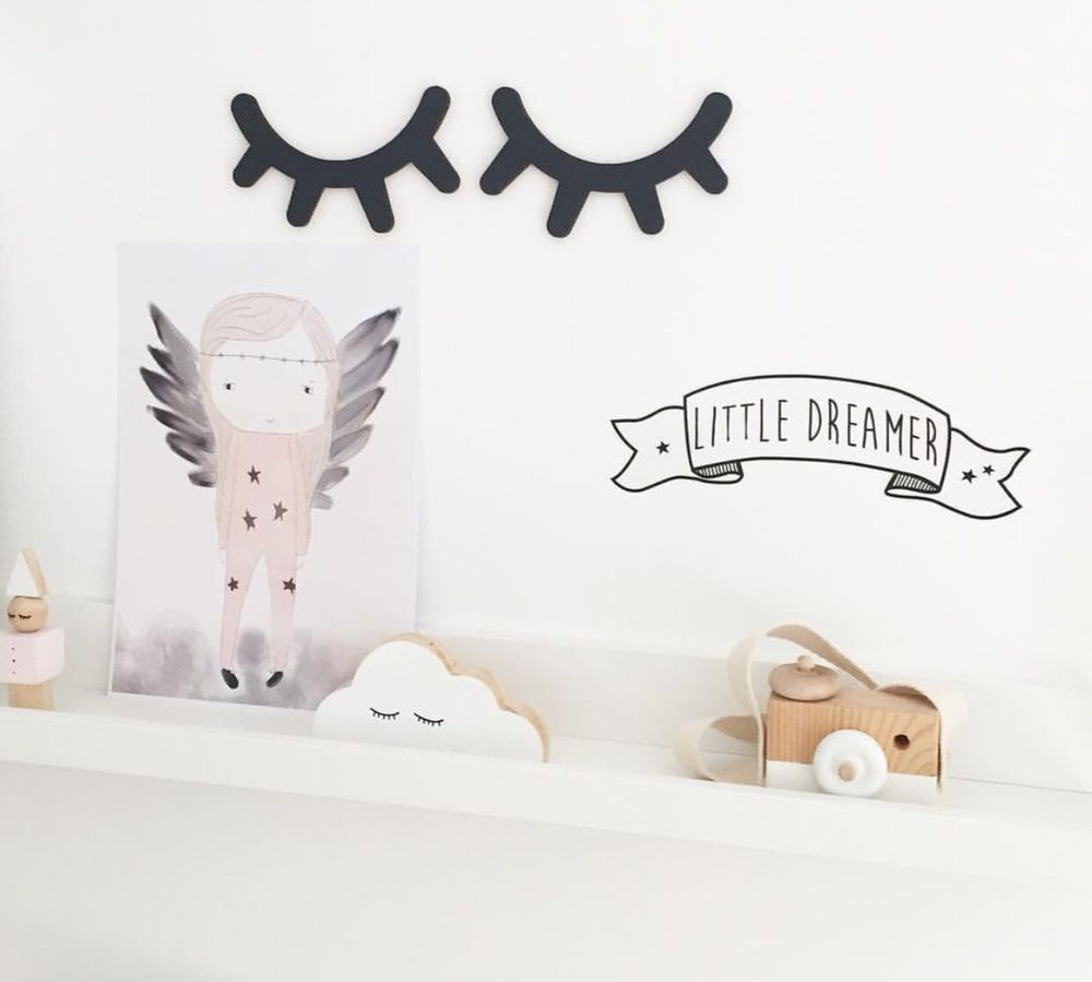 Cílios Decorativos em MDF Preto- 1 Par  - Shop Ud