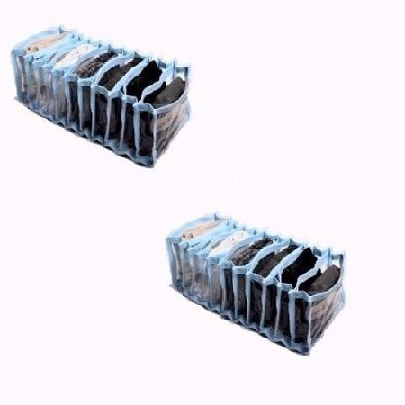 Colméia Organizadora de Gavetas (para calcinhas, meias, cuecas) Transp  Viés Azul 11 Nichos 2 unidades