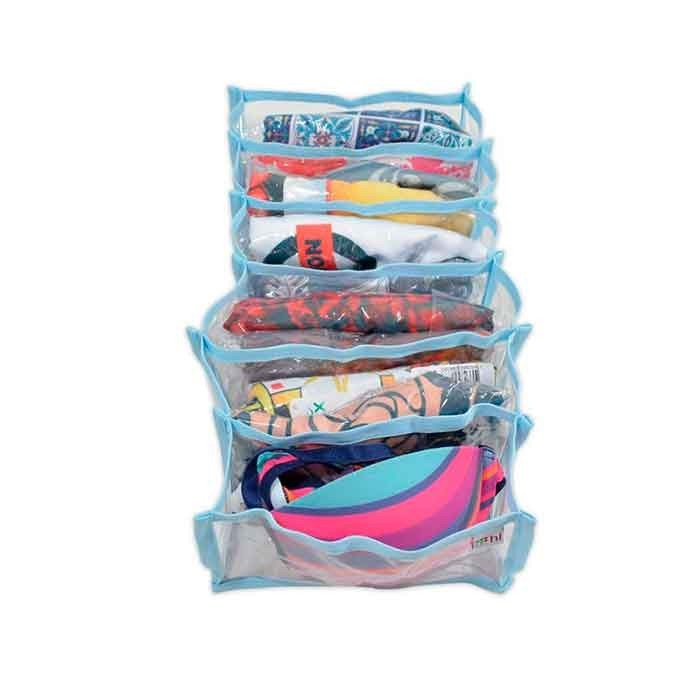 Colmeia Organizadora VB Home para Biquinis Transparente com Viés Azul 4 peças  - Shop Ud
