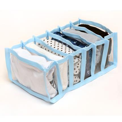 Colmeia Organizadora para Biquinis e Body de Bebê Transp Viés Azul 4 peças  - Shop Ud