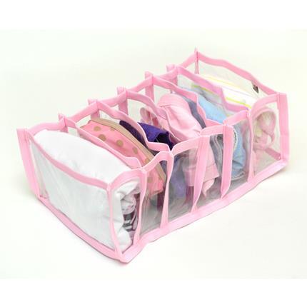 Colmeia Organizadora para Biquinis Sungas Bodys de Bebê Transp Rosa