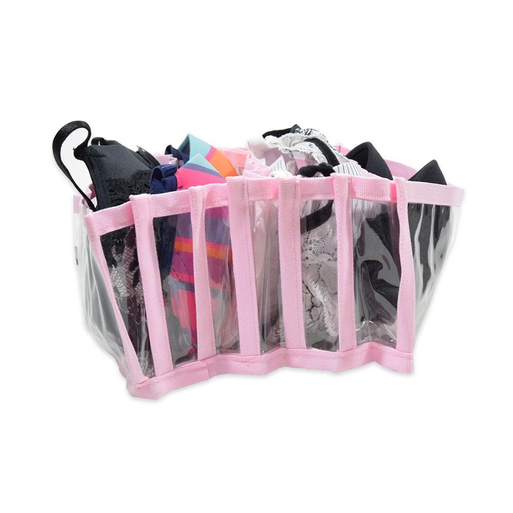 Colmeia Organizadora VB Home para Sutiã Bojo Transparente com Viés Rosa 4 peças  - Shop Ud