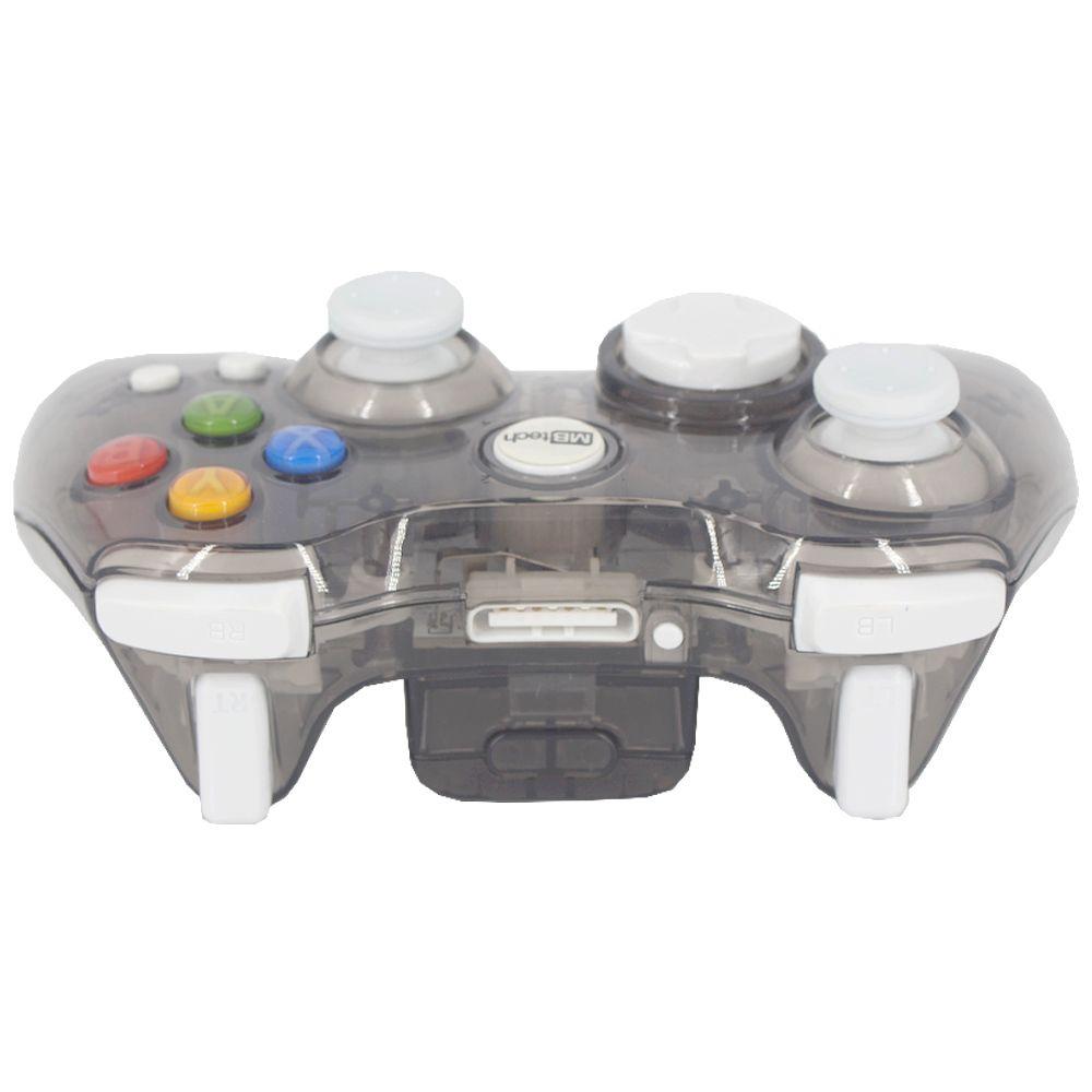 Controle Sem Fio Transparente à Pilha para Xbox 360 - Cinza  - Shop Ud