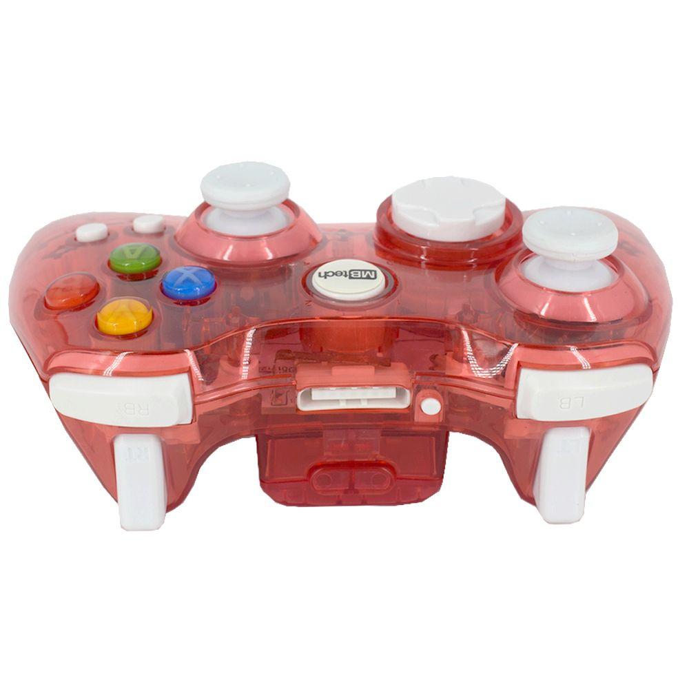 Controle Sem Fio Transparente à Pilha para Xbox 360 Vermelho  - Shop Ud