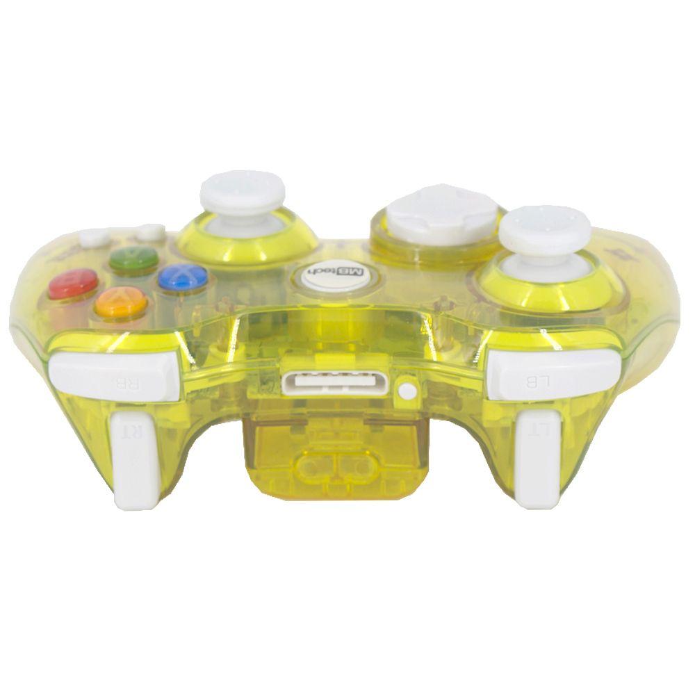 Controle Sem Fio Transparente à Pilha paral Xbox 360 Amarelo  - Shop Ud
