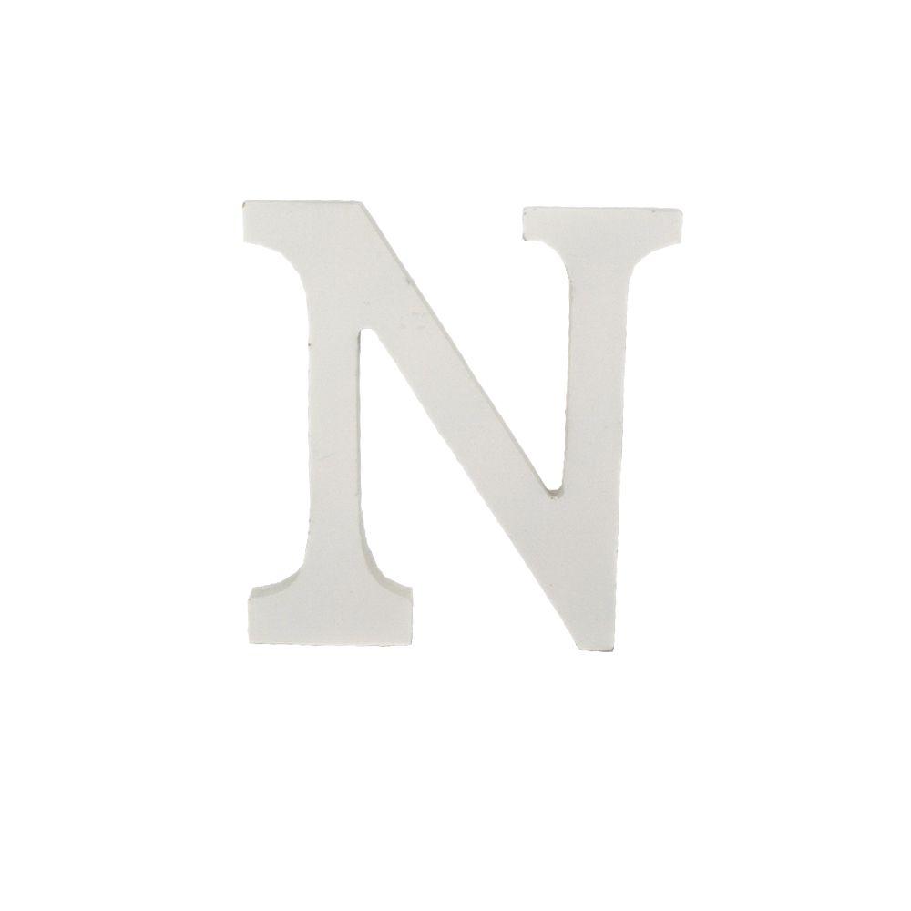 Letra Decorativa em MDF – Letra N (Branca)