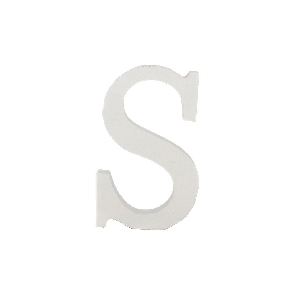 Letra Decorativa em MDF – Letra S (Branca)