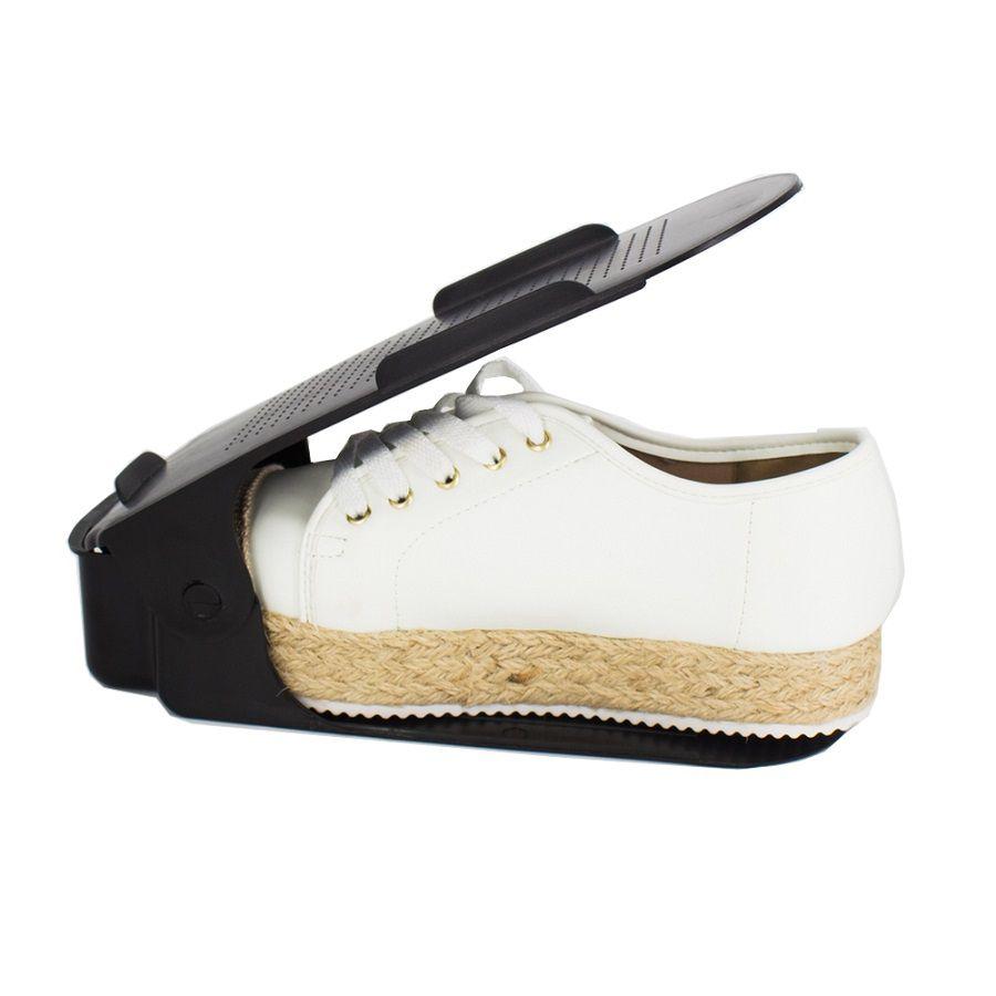 Organizador de Sapato Rack com 40 unidades Preto com Regulagem de Altura  - Shop Ud