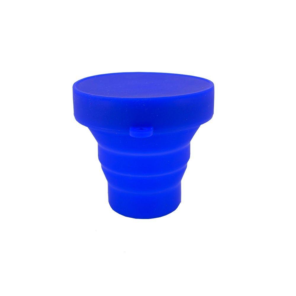 Copo Dobrável de Silicone - Azul