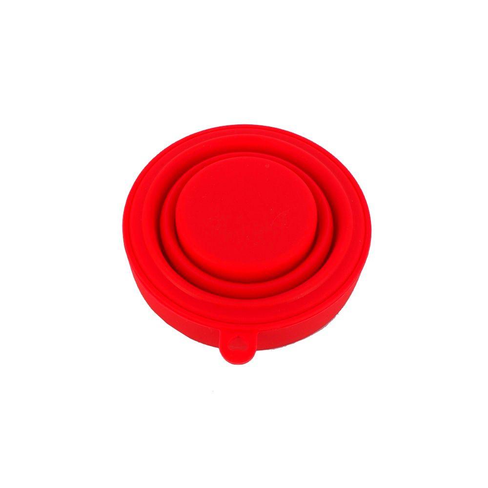 Copo Dobrável de Silicone - Vermelho  - Shop Ud