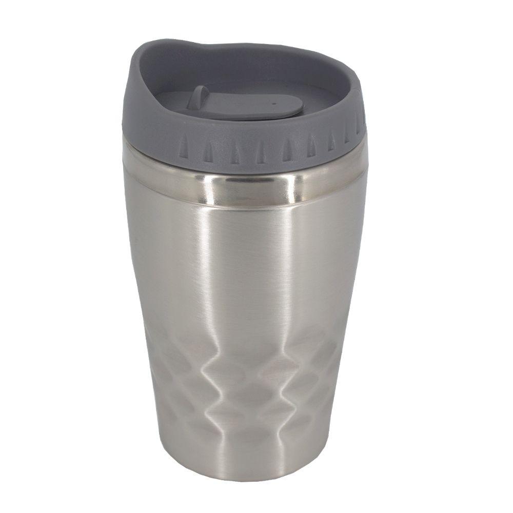 Copo Térmico Aço Inox  Café Chá Leite 350 ML Prata e Cinza