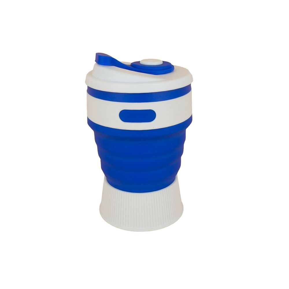 Copo térmico de Silicone – Dobrável Azul  - Shop Ud