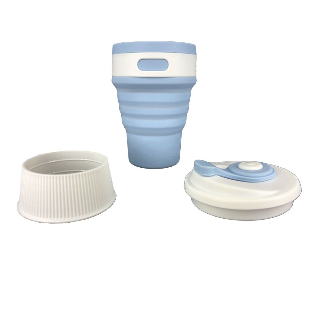 Copo térmico de Silicone – Dobrável Azul Claro  - Shop Ud
