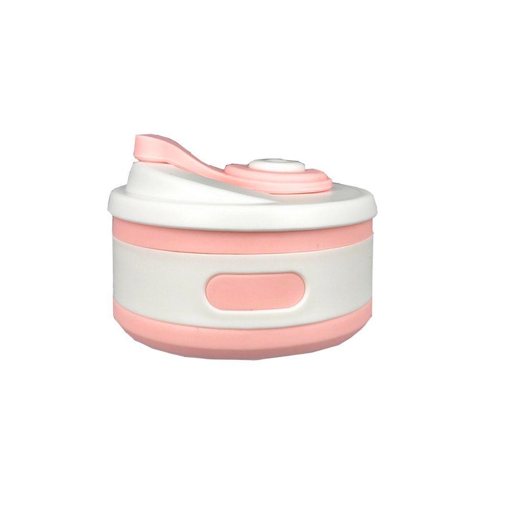 Copo térmico de Silicone – Dobrável Rosa Bebê  - Shop Ud