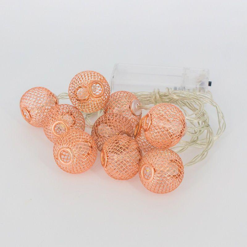 Cordão 10 bolinhas LED Rose Gold