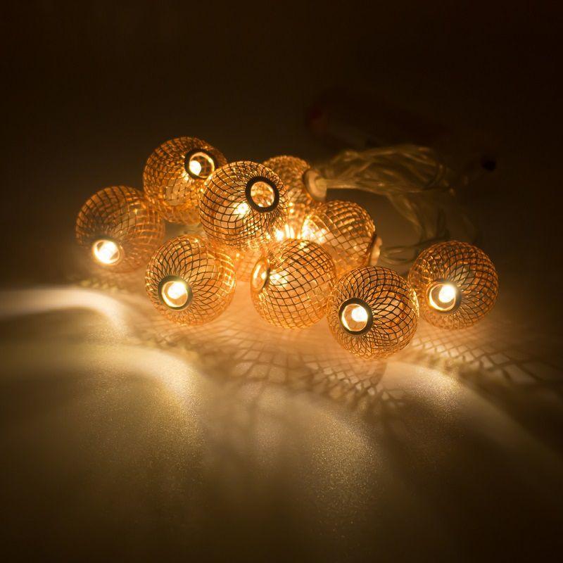 Cordão 10 bolinhas LED Rose Gold  - Shop Ud