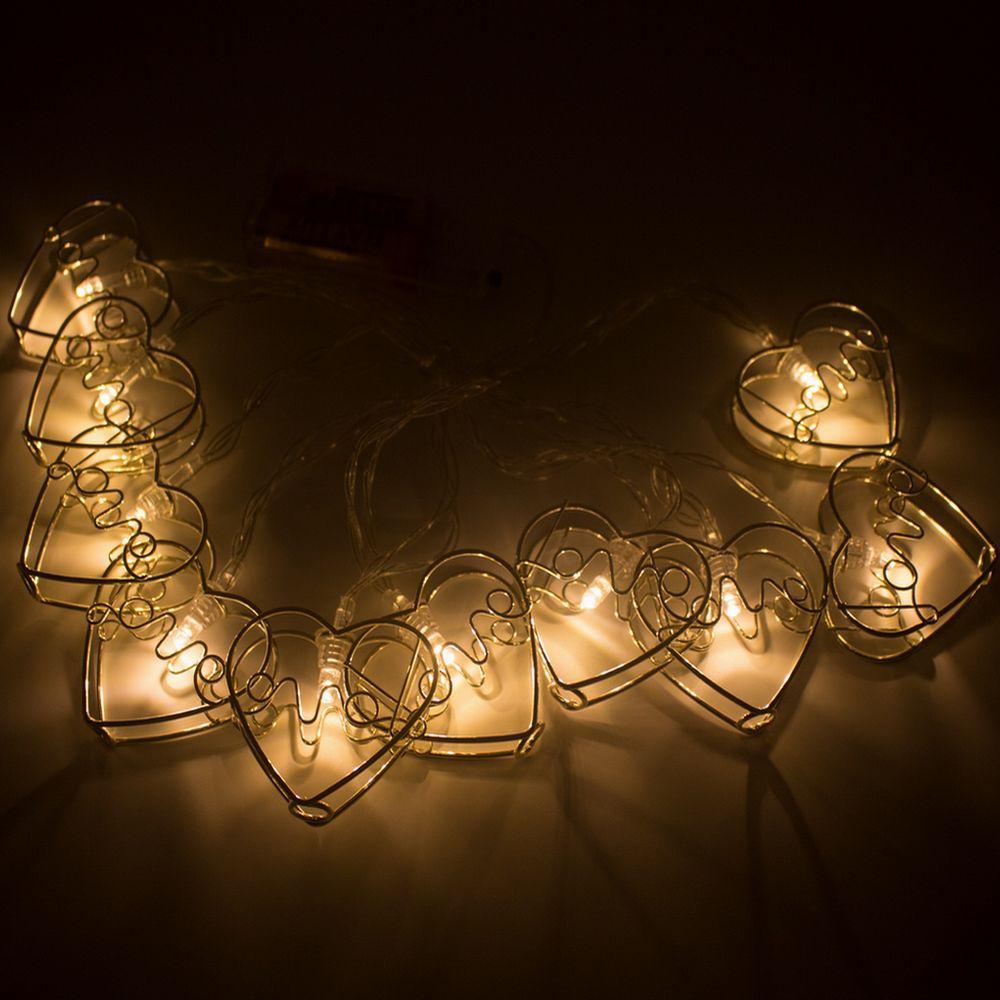Cordão de LED 10 Coração LOVE Prata  - Shop Ud