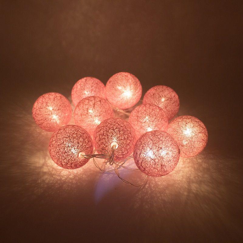 Cordão de Luz de LED 10 Bolinhas a Pilha Pink  - Shop Ud