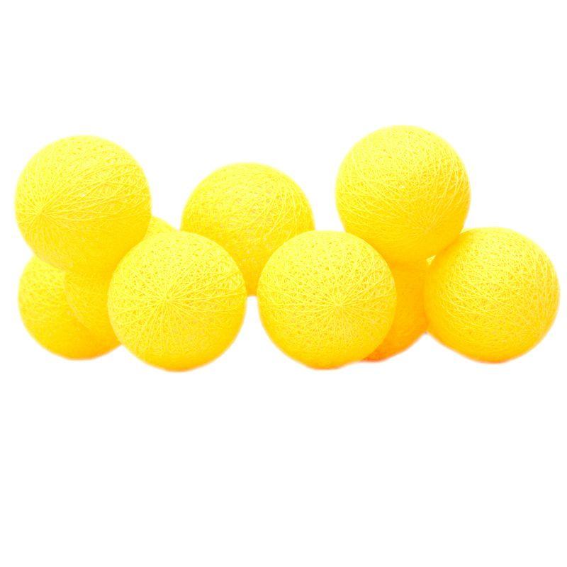 Cordão de Luz de LED 10 Bolinhas LISA a Pilha Amarelo