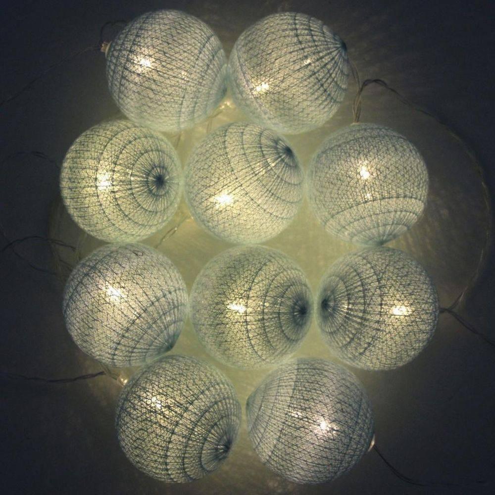 Cordão de Luz de LED 10 Bolinhas LISA a Pilha Azul Bebe  - Shop Ud