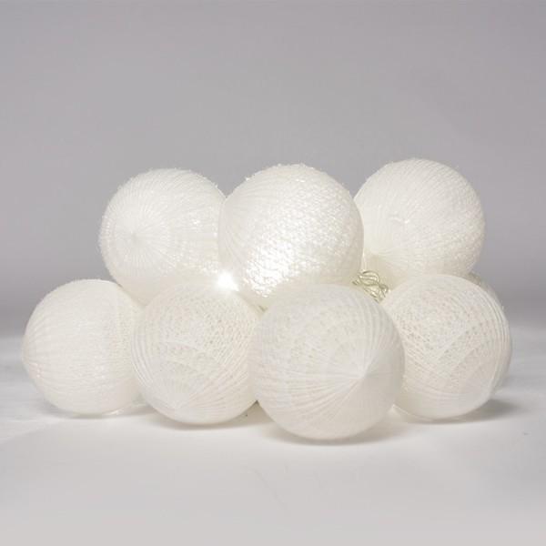 Cordão de Luz de LED 10 Bolinhas LISA a Pilha Branco  - Shop Ud