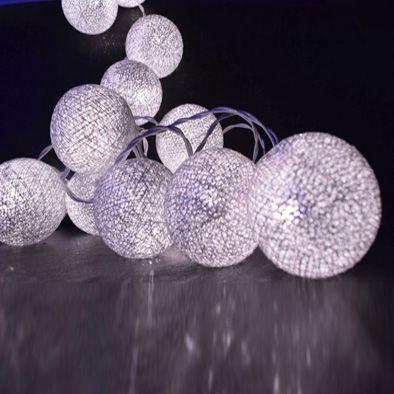 Cordão de Luz de LED 10 Bolinhas LISA a Pilha Lilás  - Shop Ud