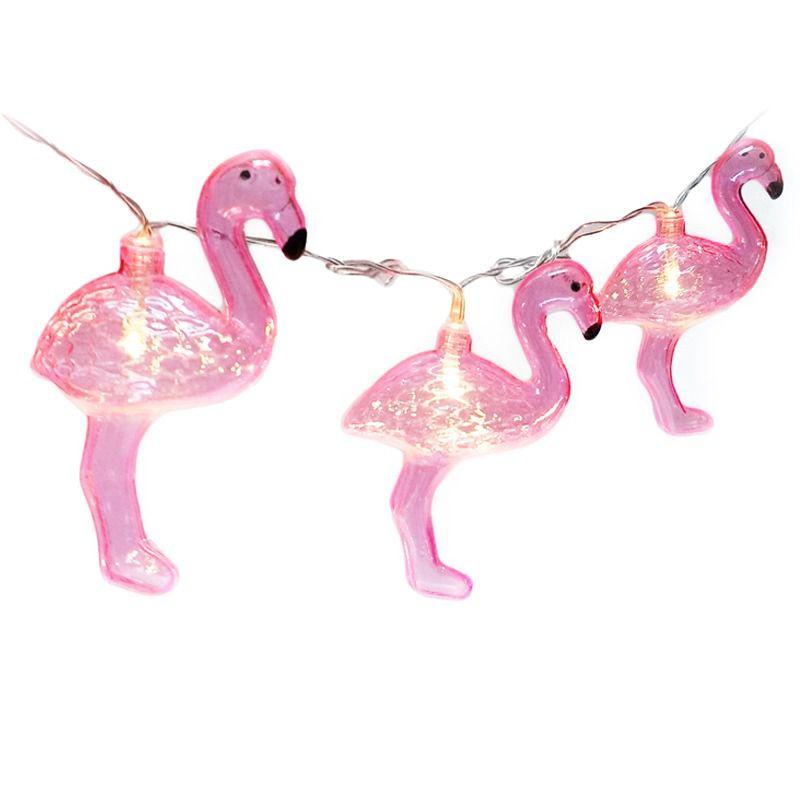 Cordão De Luz - Flamingo - Led - Fio Com 180cm - 2 Pilhas AA