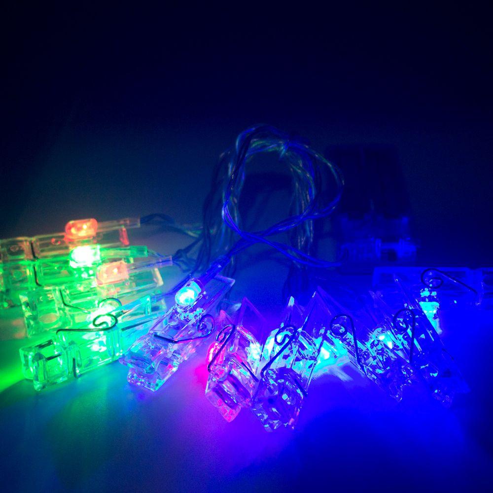 Cordão De Luz Photo Clip Led 10 Prendedores Luzes Coloridas