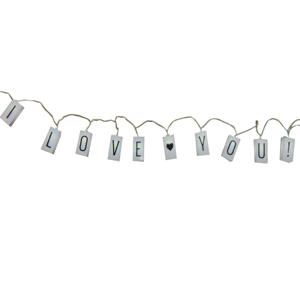 Cordão Fio De Luz 10 Leds Frases Lightbox + 60 Letras